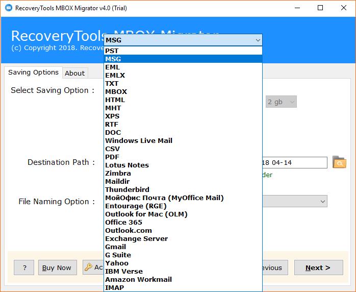 RecoverData Gmail MBOX Converter